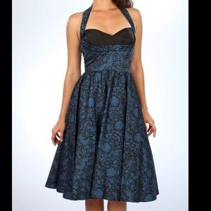 Stop Staring! Cover Girl Blue Lace Swing Dress
